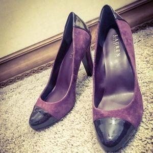Ralph Lauren Purple Suede Heels